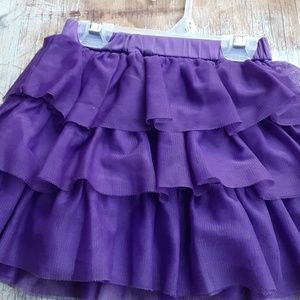 Girls 1989 place purple ruffled skirt 3T